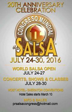 Congreso Mundial de la Salsa 2016 #sondeaquipr #congresomundialsalsa #sheratonpr #sanjuan
