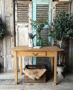 Vintage French Solid Pine Table/desk.