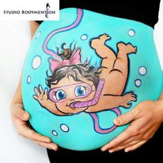 Adorable Pregnant Belly Painting Ideas - Baby G - Baby Boy Photos, Baby Pictures, Funny Pictures, Maternity Pictures, Pregnancy Photos, Pregnancy Belly, Trendy Baby, Bump Painting, Painting Art