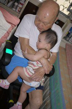 Grandchildren are the best for hugs!