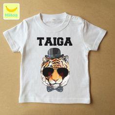 こちらは名前入りオリジナルTシャツになります。 お洒落タイガーのプリントです。お子様に、または誕生日プレゼントにも喜ばれると思います。 名前の色は黒になります...|ハンドメイド、手作り、手仕事品の通販・販売・購入ならCreema。