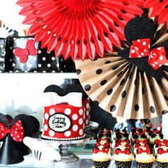 Another adorable Minnie Mouse Birthday Party--this one by blogger Kristin Jackson--