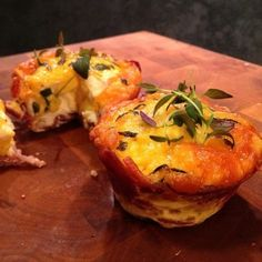 """Paleo Recipe - Egg Cupcakes.  Low carb, low calorie and an easy """"on the go meal"""""""