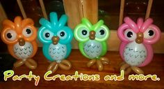 Learn to create balloon decorations, how to twist balloons and how to make balloon animals with our online courses and tutorials Owl Themed Parties, Owl Birthday Parties, Balloon Columns, Balloon Arch, Twisting Balloons, Owl Balloons, Balloon Modelling, Balloon Crafts, Balloon Centerpieces