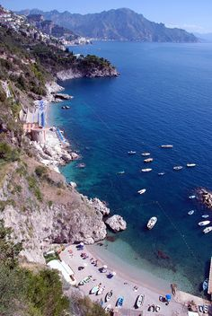 Conca dei Marini Beach, Amalfi, Italy www. Beautiful Places In The World, Places Around The World, Travel Around The World, Wonderful Places, Beautiful Beaches, Amazing Places, Vacation Destinations, Dream Vacations, Vacation Spots