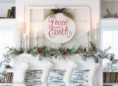 Christmas Mantel Decor - The Lilypad Cottage