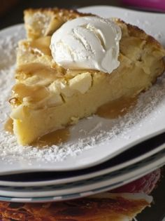 Far aux pommes parfumées à la fleur d oranger French Cake, Cake & Co, French Kitchen, Orange Blossom, International Recipes, Let Them Eat Cake, Cheesecake, Veggies, Pie