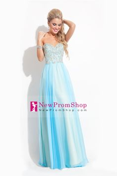 2015 Sweetheart A-Line/Princess Prom Dress Chiffon with beading and sequins
