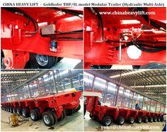 Goldhofer THP/SL model Modular Trailer (Hydraulic Multi Axle) -www.chinaheavylift.com