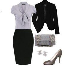 outfi formal falda de tubo negra, mujer gordita - Buscar con Google