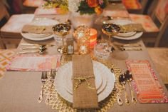 Rustic elegance wedding tablescape, love having a buffet menu beside the table...add drink menu on this as well