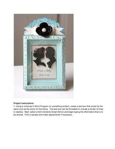 The Curtsey Boutique: DIY Wedding Shadow Box Tutorial with Shellye McDaniel