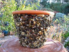 Pebble Flower Pot for Home or Garden