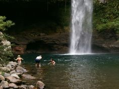 How about a refreshing dip in a majestic waterfall…