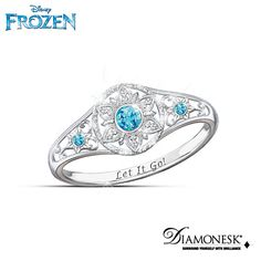 Disney FROZEN Enchanted Snowflake Ring--A great way to remember to Let go of all the little stuff.