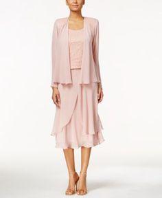 b4844c491b0d SL Fashions Sequined Three-Piece Dress Set Women - Dresses - Macy s