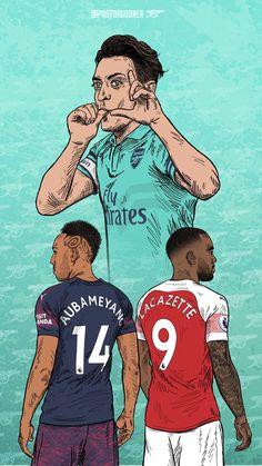Arsenal Fc Players, Aubameyang Arsenal, Arsenal Football, Football Is Life, Football And Basketball, Football Players, Arsenal Wallpapers, Soccer Drawing, Soccer Art