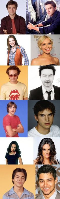 Then & now, cast of That 70's Show