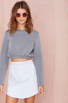 Katie Scuba Crop Sweatshirt