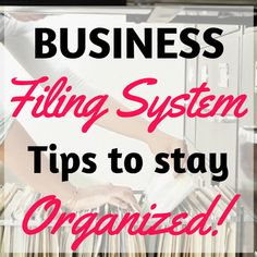 How to Organize a Proven Business Filing System – home office organization files Home Business Organization, Business Storage, Office Organization At Work, Receipt Organization, Organization Ideas, Office Filing System, Organizing Paperwork, Organizing Tips, Home Based Business