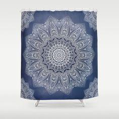 INDIGO DREAMS Shower Curtain by Monika Strigel   Society6 $68