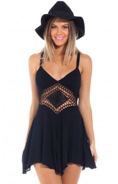 Havana playsuit in black