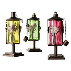 3 Piece Forêt Oil Lantern Set