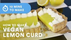 This is a very easy vegan lemon curd recipe and it tastes exactly the same! Grab the RECIPE in US metrics/grams here: h. Vegan Lemon Curd, Lemon Curd Recipe, Baking Recipes, Whole Food Recipes, Dessert Recipes, Shortcrust Pastry, Vegan Butter, Pudding Recipes, Vegan Sweets