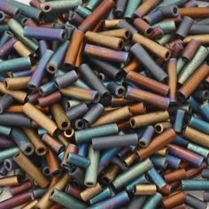 Quality Seed Beads manufactured By Miyuki Co. Size: Bugle Seed Beads Color: 04 Flat Iron Plastic Tube Measures: x You will receive-one 14 gram tube of size Mixed Bugle Seed Beads. Buy Seeds, Beads Online, Flat Iron, Seed Beads, Jewelry Making, Etsy, Vintage, Products, Hair Iron