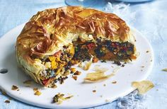 A vegetarian pie is one of the most delicious ways to pack in plenty of your five-a-day, made with sweet roasted veggies and nutty lentils. This vegetarian pie recipe is so simple to make, thanks to a little help from some ready-made pastry and of course plenty of tasty veg. We've used Mediterranean-style veggies but feel free to swap in anything you have in the fridge - peas, aubergine and carrots all work well too. If you want to make sure this is vegan then just check the ingredients ...