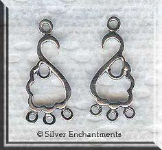 Silver Jewelry Findings, Sterling Silver 28mm Dangler Pendants or ...