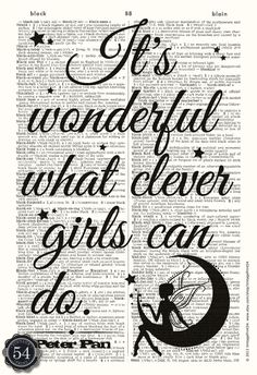Vintage Dictionary Art Print, Peter Pan Quote by Vintage Print $8.50