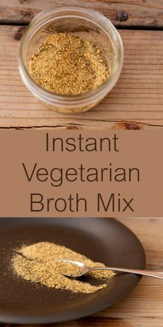 Instant Vegetarian Broth Mix is made from dried spices and herbs from your cupboard and it's vegan, salt free, gluten-free, and yummy!