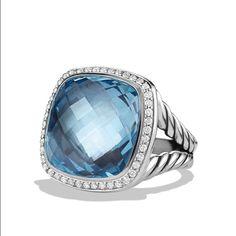 David Yurman Albion Ring with Diamonds Good condition.  Beautiful ring.  Stunning piece of jewelry . 17 X 17 mm, .62 total karats.  Trades David Yurman Jewelry Rings