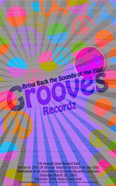 Record Sale Poster by Lindsey Yowan, via Behance