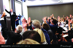 Don O'Sullivan, Associate Professor, Marketing, Melbourne Business School engaging the audience at #InsightsUni14. www.forethought.com.au