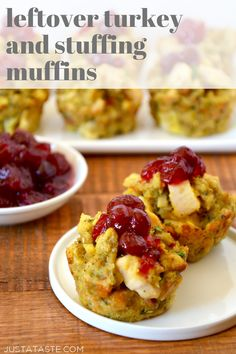Leftover Turkey and Stuffing Muffins are a quick and easy recipe to use up Thanksgiving leftovers! This easy leftovers recipe transforms turkey and stuffing into muffins perfect for topping with leftover cranberry sauce and/or a drizzle of leftover gravy. justataste.com #thanksgivingleftovers #leftoverturkeyrecipeseasy #turkeyleftoverrecipes #recipes #thanksgiving #stuffing #justatasterecipes Thanksgiving Leftover Recipes, Leftover Turkey Recipes, Thanksgiving Leftovers, Leftovers Recipes, Holiday Recipes, Turkey Leftovers, Turkey Food, Thanksgiving Stuffing, Thanksgiving Turkey