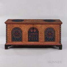 Country Furniture, Antique Furniture, Painted Furniture, Painted Chest, Painted Boxes, Hand Painted, Trunks And Chests, Blanket Chest, Lots For Sale