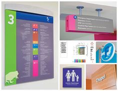 Interior and Exterior Signage and Wayfinding at The Children's Hospital in Aurora, CO