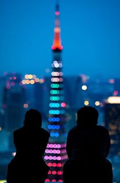 magic moment at Tokyo tower blue, enjoy life, be in the moment