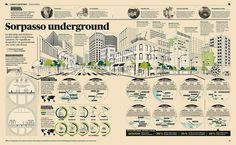 Francesco Franchi - Infographic about underground city tunnels in the world from IL — Intelligence in lifestyle, the gentlemen's style magazine of Il Sole 24 ORE
