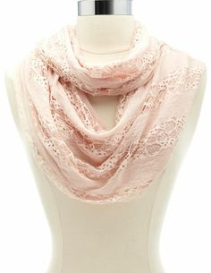 Lace Infinity Scarf: Charlotte Russe