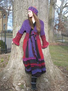 There's A Song In The Heart Of A Woman Upcycled Sweater Coat from the magical hands of  @Dana Curtis Curtis Curtis Baldwin