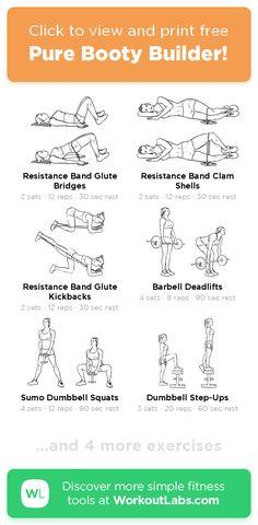 home bikini body workout 6243341832 Shape Magazine, Gym Workouts, At Home Workouts, Bikini Body Workout Plan, Band Workout, Massage, Weight Loss Workout Plan, Weight Training, Resistance Band Exercises