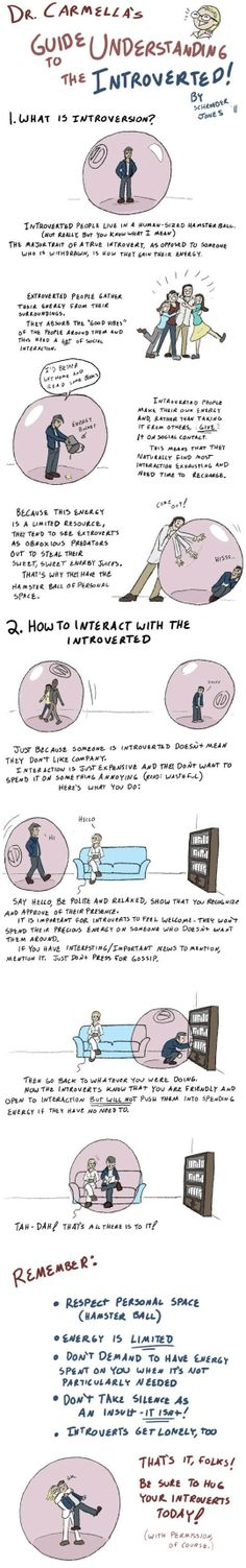 This is quite awesome. Best explanation ever of introverts. Watch and learn you extroverts out there...