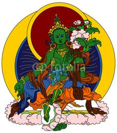 Green Tara or Arya Tara, also known as Jetsun Dolma in Tibetan Buddhism, is a female Bodhisattva in Mahayana Buddhism who appears as a female Buddha in Vajrayana tradition.