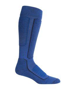 Mens Merino Ski+ Medium Over the Calf Socks Over The Calf Socks, Prevent Blisters, Ski Socks, Mens Skis, Icebreaker, Heather Black, Merino Wool, Skiing, Calves
