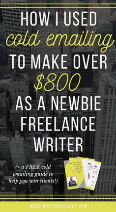 Stop using upwork and fiverr, and learn how to use cold emailing to start freelance writing! This post will teach you exactly how to find clients and make money writing online. Check it out! :)