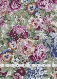 Garden Twist Collection, In the Beginning Fabrics, Flowers. $4.25, via Etsy.