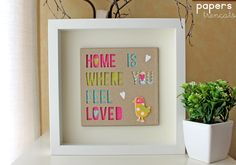 Crafting ideas from Sizzix UK: Home is ...